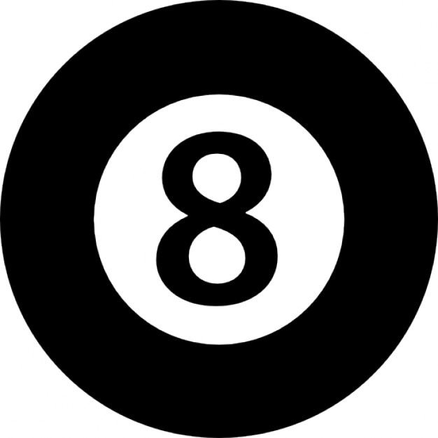 Eight ball of billiard icons free download - 8 ball pictures ...