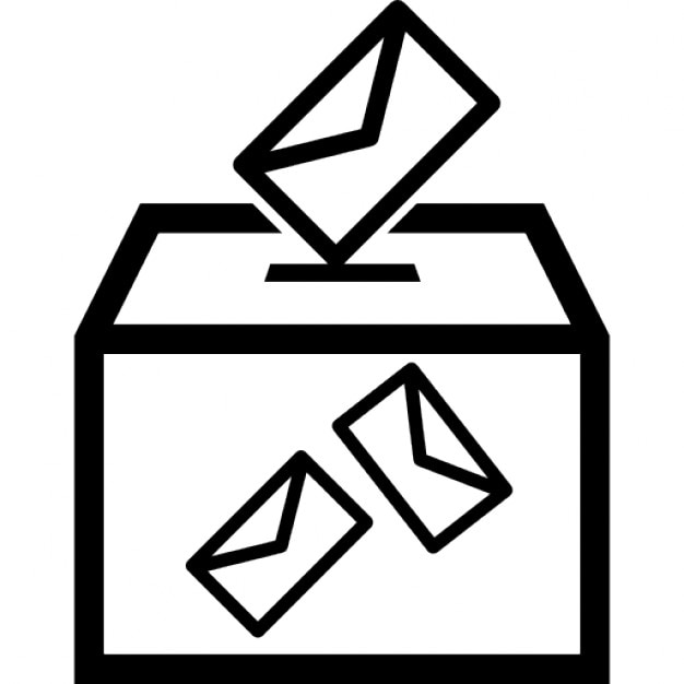 Election envelopes and box Free Icon