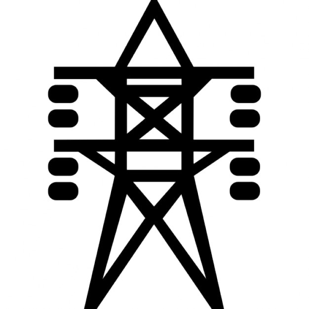 Electrical Lines Tower Support Free Icon