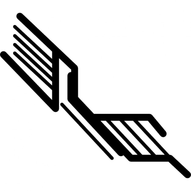 electronic circuit in diagonal lines icons
