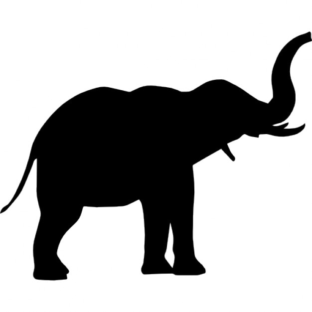 elephant side view icons free download rh freepik com  elephant silhouette free vector