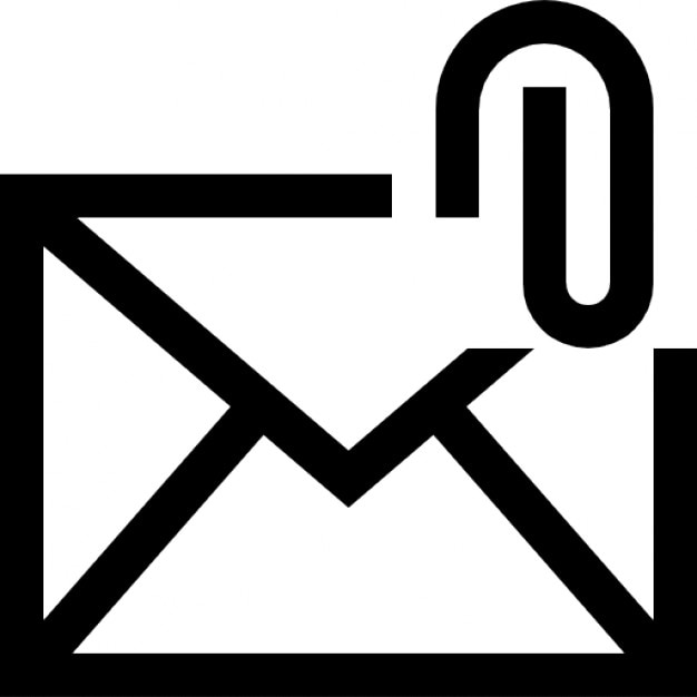 Email Attachment Interface Symbol Icons Free Download