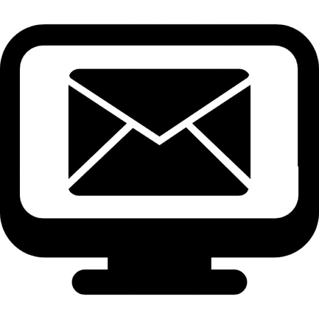 Email Symbol On Monitor Screen Icons Free Download
