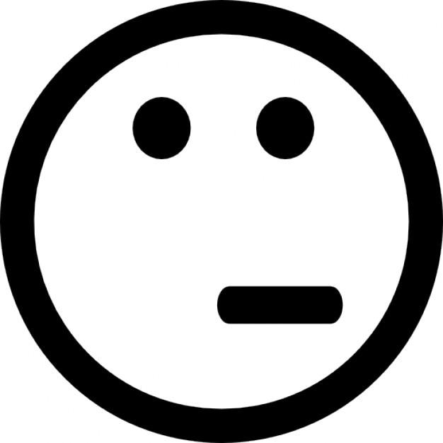Emoticon face of doubt... Whatsapp Emoticons