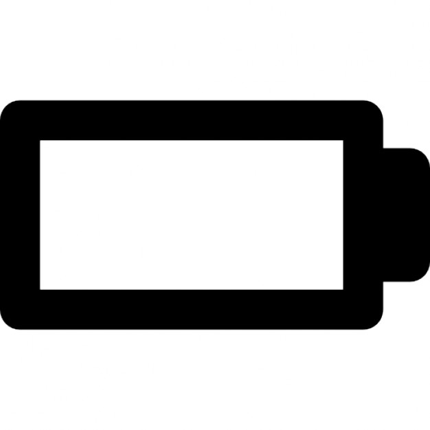 Empty Battery Interface Status Symbol Icons Free Download