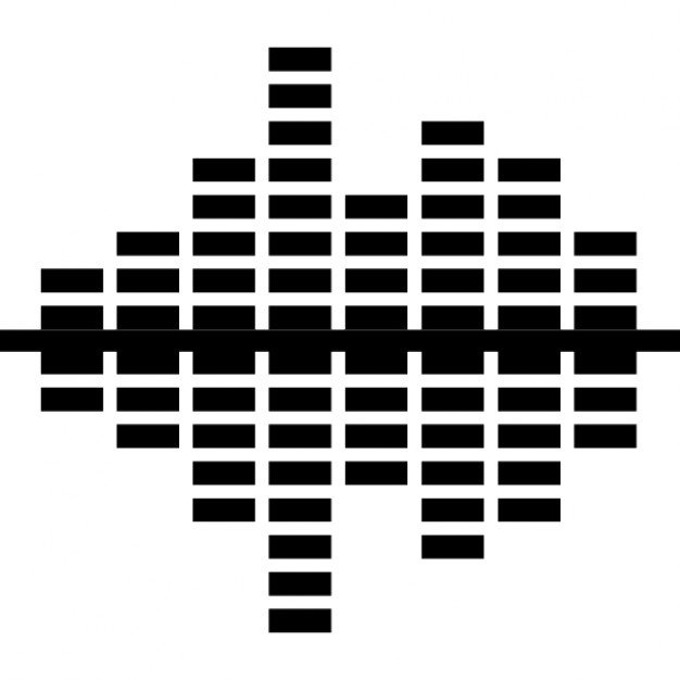 Equalizer converging sound bars Icons   Free Download