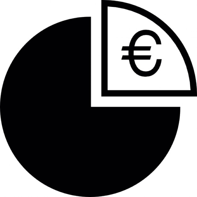 Euro Symbol On A Quarter Graph Pie Icons Free Download
