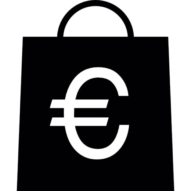 Euro Symbol On A Shopping Bag Icons Free Download