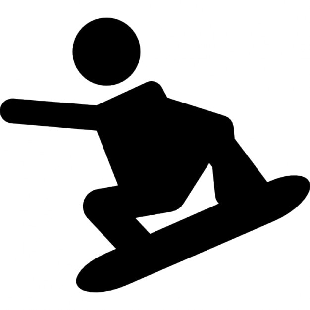 Extreme Snowboard Silhouette Icons Free Download