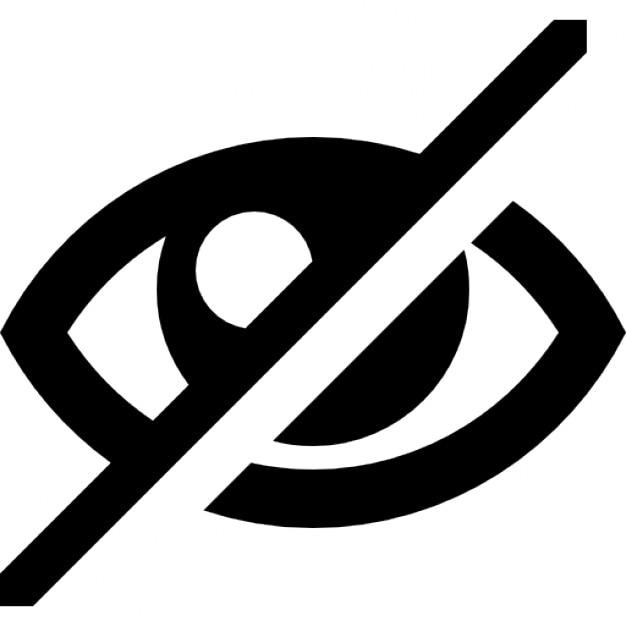Eye Blocked Symbol Icons Free Download