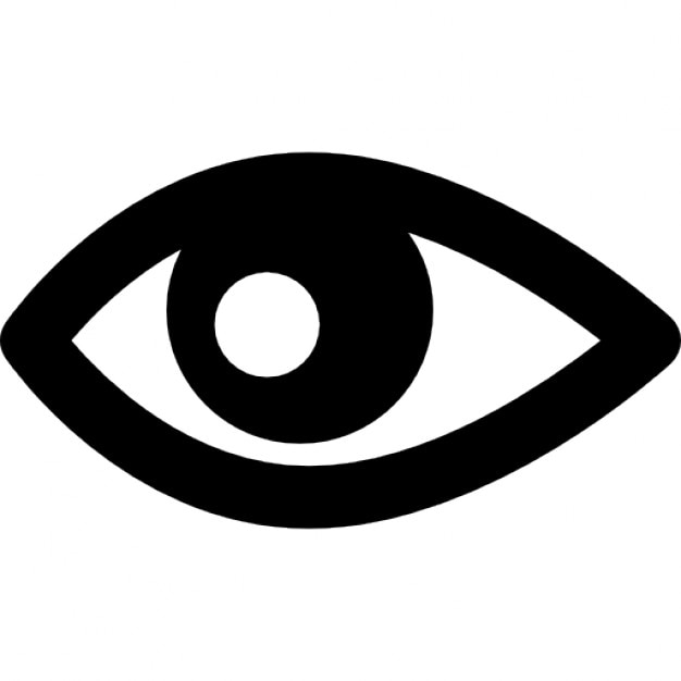 Eye Shape Variant Interface View Symbol Icons Free Download