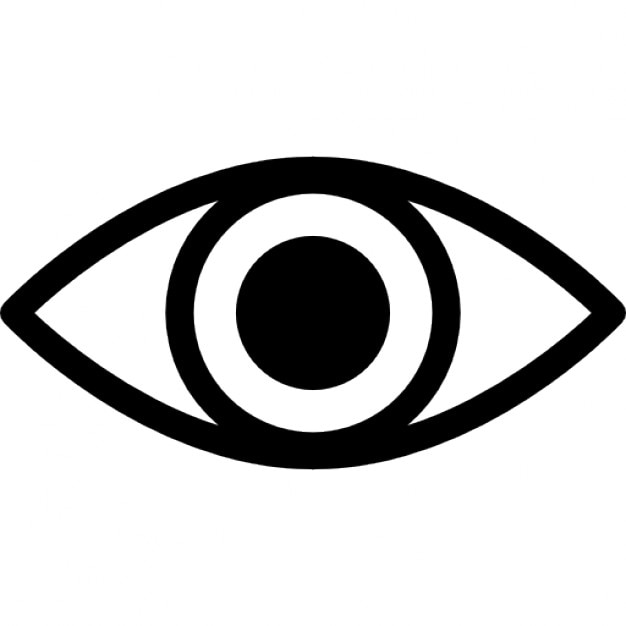 Eye Variant With Enlarged Pupil Icons Free Download