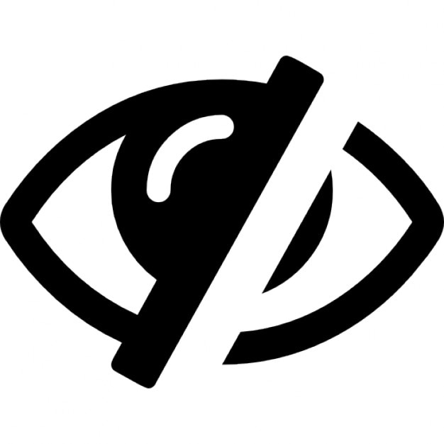 Eye With A Diagonal Line Interface Symbol For Invisibility Icons