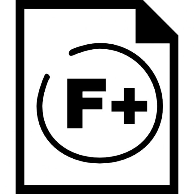 F Plus School Rating Paper Interface Symbol Icons Free Download