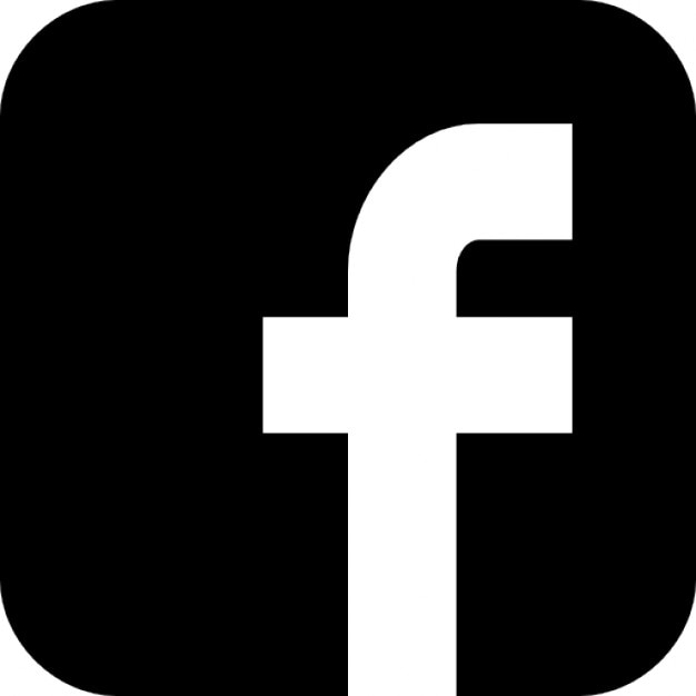 Image result for black facebook logo