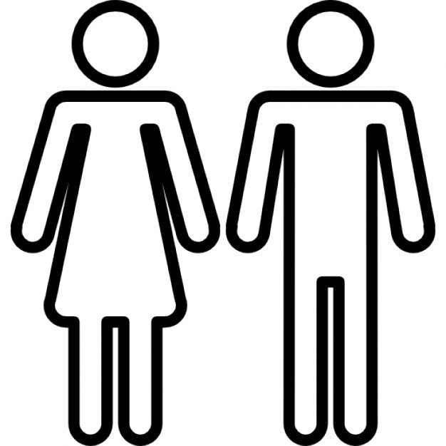 Female and male shapes silhouettes outlines Icons | Free Download