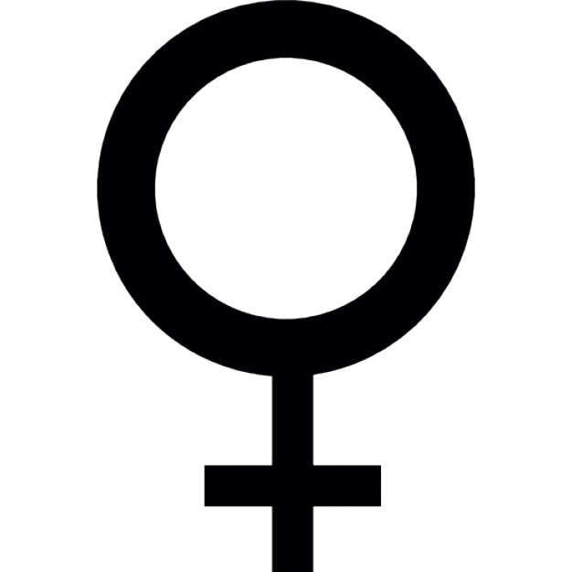Female Symbol Of A Circle With A Cross Icons Free Download