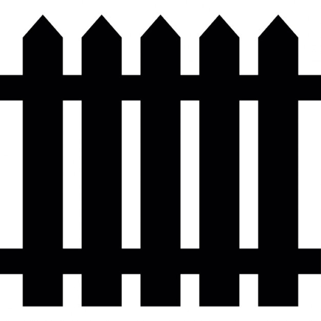 Fence Of Wood Silhouette Icons Free Download