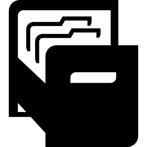folder icon black and white.  And File Folders Free Icon On Folder Black And White
