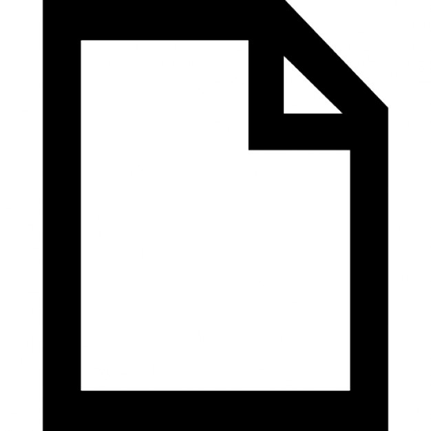 File Interface Symbol Of Paper Sheet Outline With Right Upper Corner