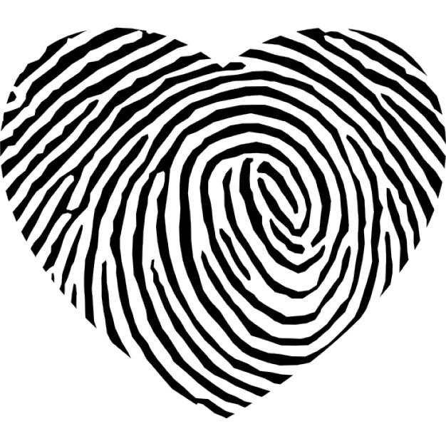 Fingerprint heart shape Icons | Free Download