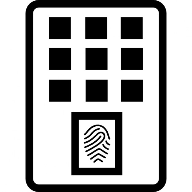 Fingerprint scanner device Icons | Free Download