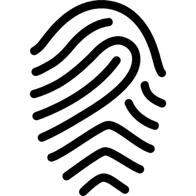 fingerprint simple outline free icon - Simple Outline Pictures