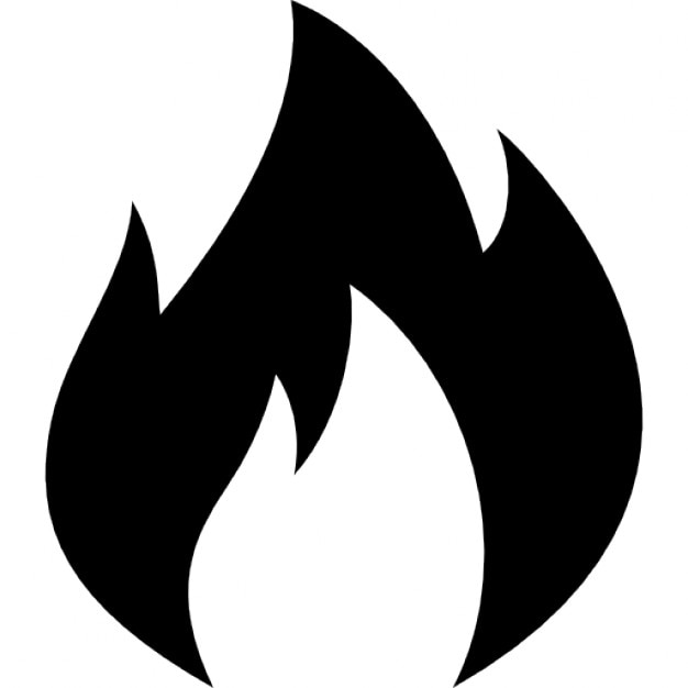 Fire flaming outline Icons | Free Download