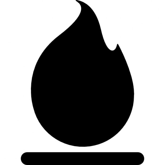 Fire gross flame black symbol Icons | Free Download