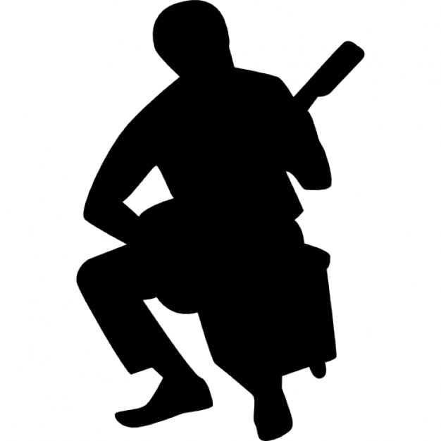 Flamenco guitar player silhouette Icons | Free Download