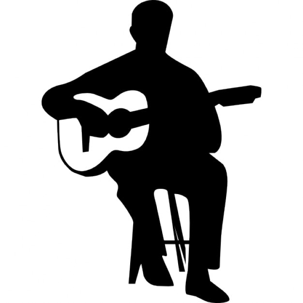 Guitar Player Silhouette Vector | www.pixshark.com ...