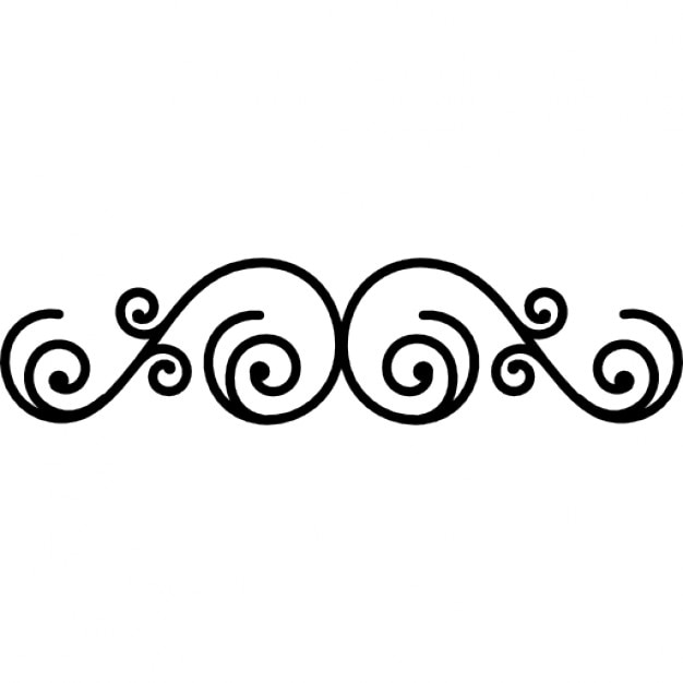 floral design of small thin spirals icons free download
