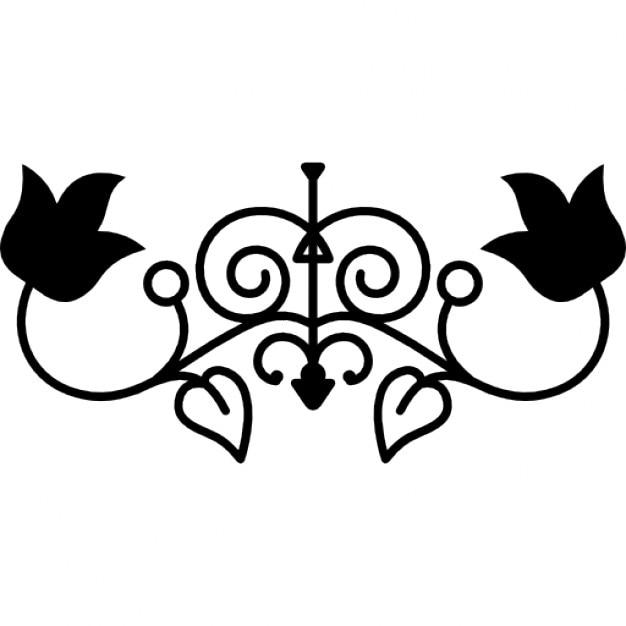 Floral symmetric design for elegant decoration Free Icon