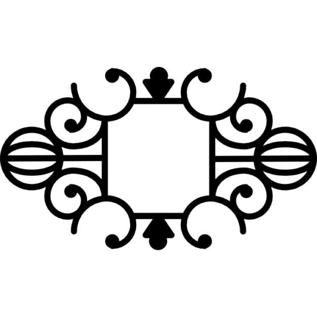 Floral symmetric design