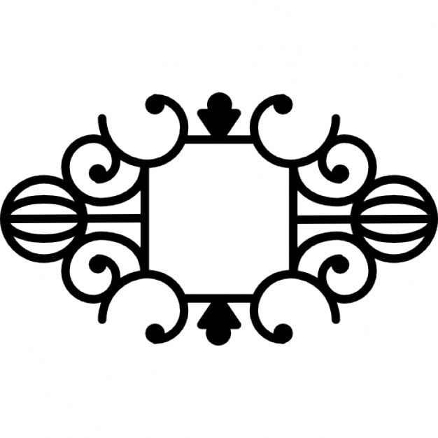 Floral symmetric design Free Icon