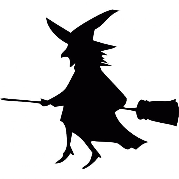 flying halloween witch on a broom free icon - Halloween Which