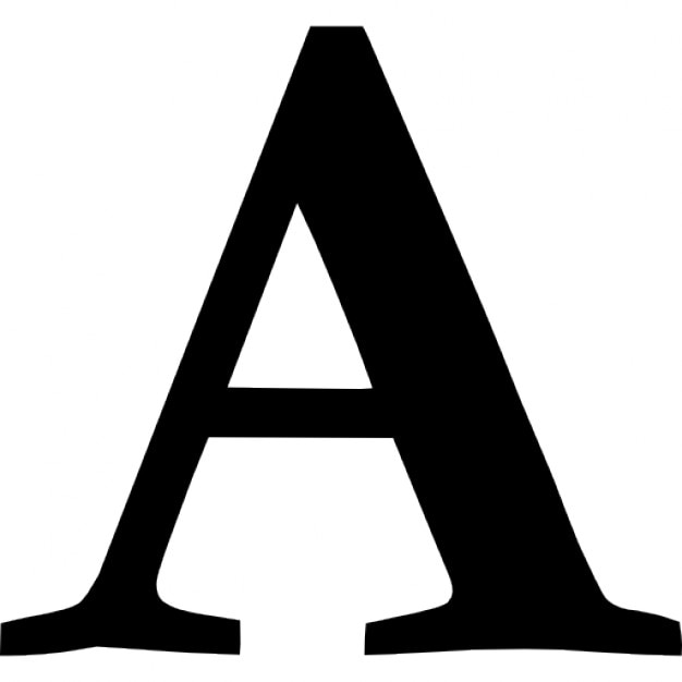 Font Symbol Of Letter A Icons Free Download