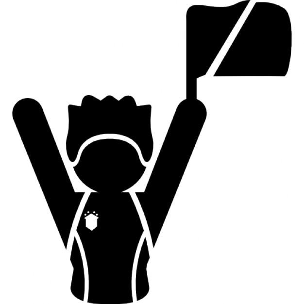 football fan clipart. football fan raising flag free icon clipart i