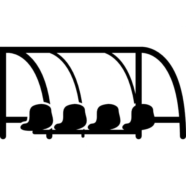 Football Team Bench Icons