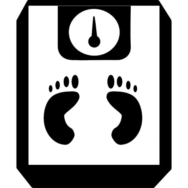 Footprints on a scale Icons | Free Download