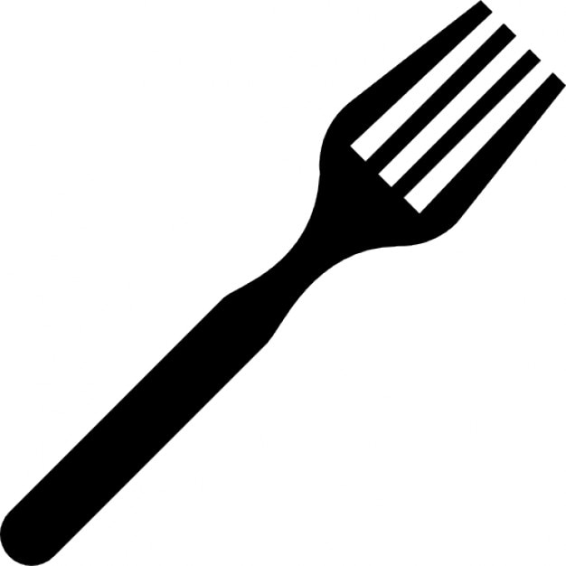 Fork In Diagonal Icons Free Download