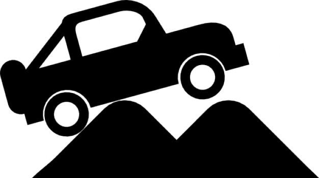 Four-wheel drive vehicle Free Icon