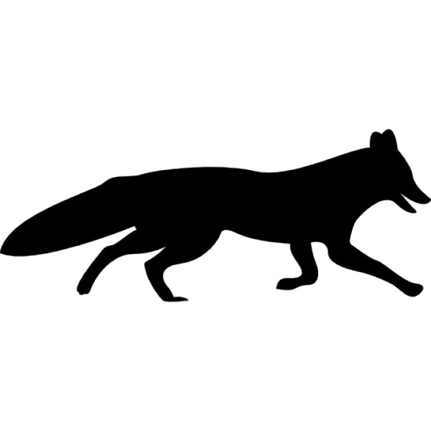 fox shape icons free download Red Fox Graphics red fox clip art outline vector