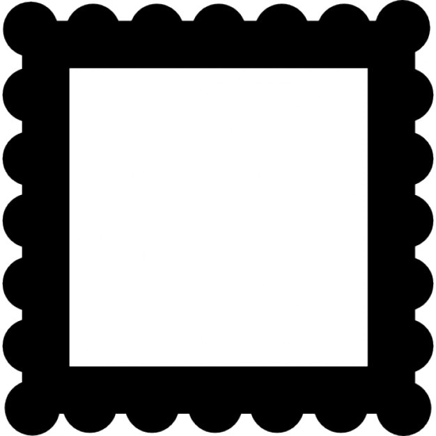Frame Border Like A Stamp Free Icon