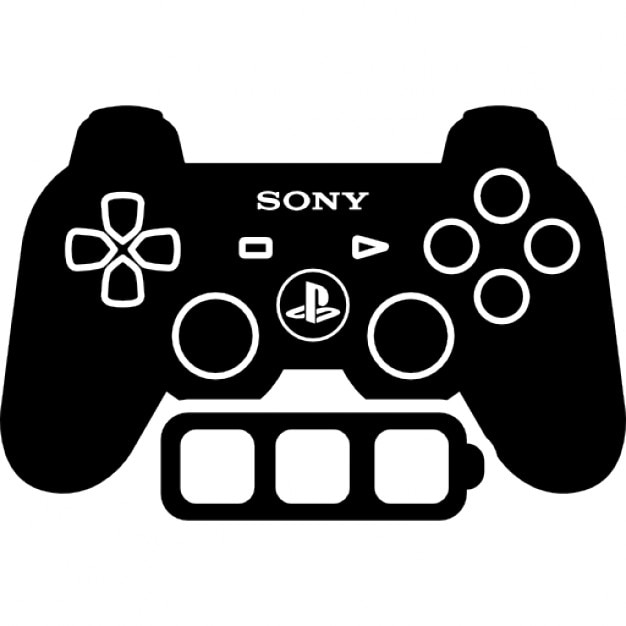 games controller with full battery icons free download. Black Bedroom Furniture Sets. Home Design Ideas