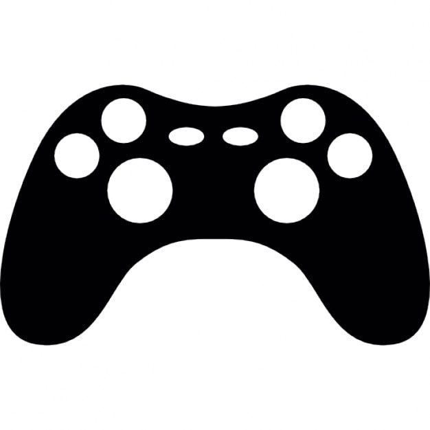 Gaming Console Silhouette Icons Free Download