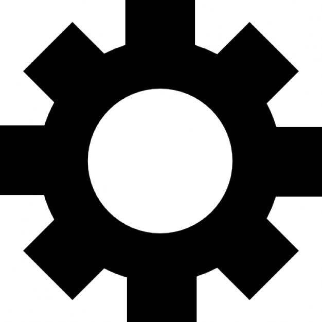 Gear Interface Symbol For Configuration Icons Free Download