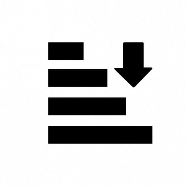 Generic sorting Free Icon