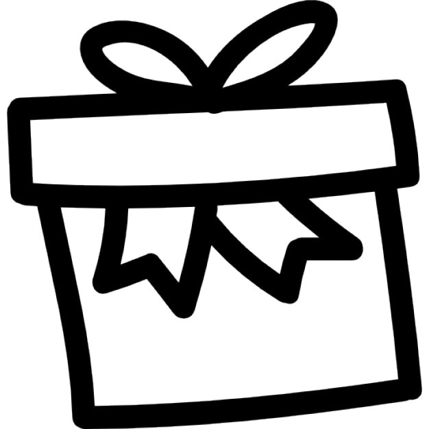 gift box hand drawn outline icons free download