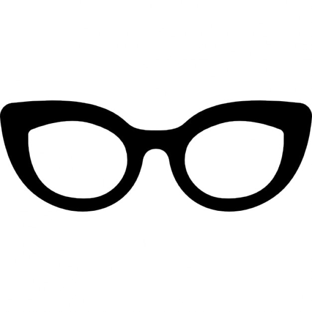 Glasses of cat eyes shape Icons Free Download